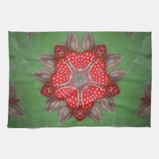 Kaleidoscope Strawberry Kitchen Towel