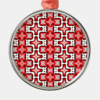Kaleidoscope texture Silver-Colored round ornament
