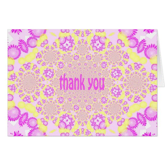 Kaleidoscope Thank You (Yellow and Pink/Purple) Card