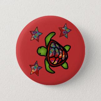 Kaleidoscope Turtle Button