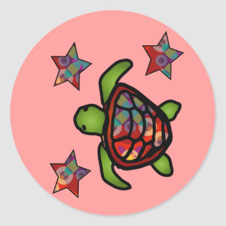 Kaleidoscope Turtle Sticker