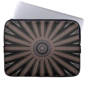 """Kaleidoscope Wheel Pattern 13"""" Electronics Bag"""
