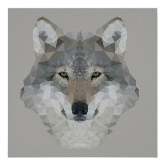 Kaleidoscope Wolf Poster