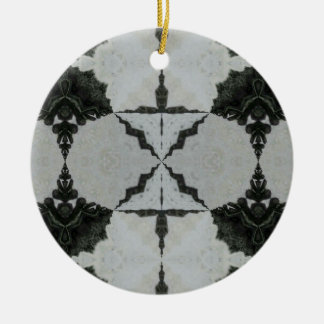 Kaleidoscope Wolf Spider, Black and Gray Ceramic Ornament