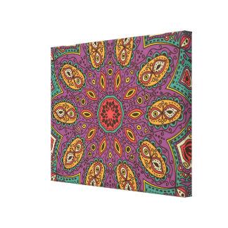 Kaleidoscope Yoga Pattern Canvas Print