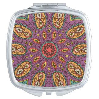 Kaleidoscope Yoga Pattern Makeup Mirrors
