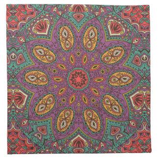 Kaleidoscope Yoga Pattern Napkin