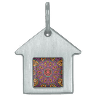 Kaleidoscope Yoga Pattern Pet ID Tags