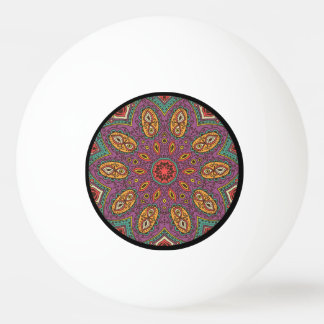 Kaleidoscope Yoga Pattern Ping Pong Ball