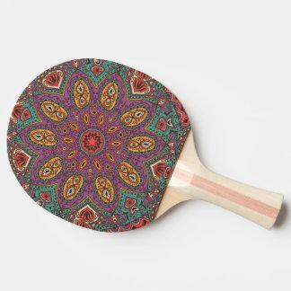 Kaleidoscope Yoga Pattern Ping Pong Paddle