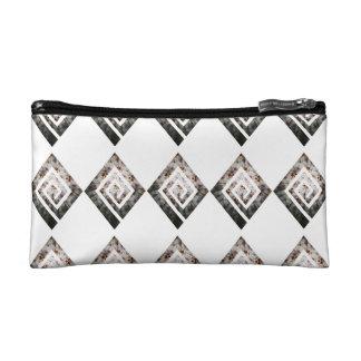 Kaleidoscopic Diamond Pattern Cosmetic Bag