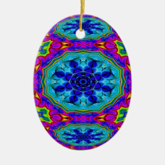 Kaleidoscopic Egg Ornament.2 Ceramic Ornament