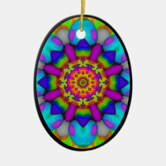 Kaleidoscopic Egg Ornament.3 Ceramic Ornament