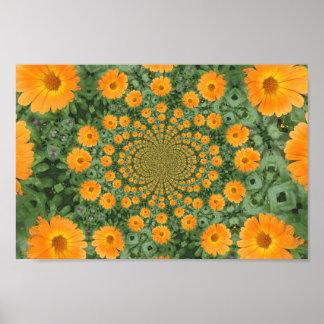 kaleidoscopic flower poster