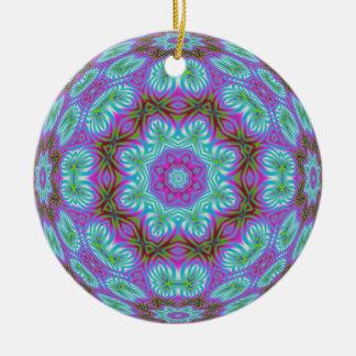 Kaleidoscopic Fractal Ornament.1 Ceramic Ornament