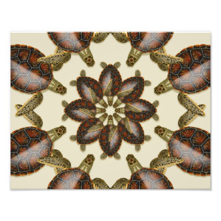 "Kaleidoscopic Green Turtle  14"" x 11"" Print Photographic Print"