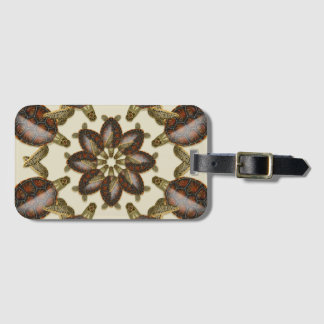 Kaleidoscopic Green Turtle Hatchlings Luggage Tag