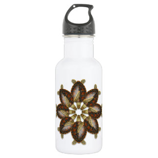Kaleidoscopic Green Turtle Water Bottle