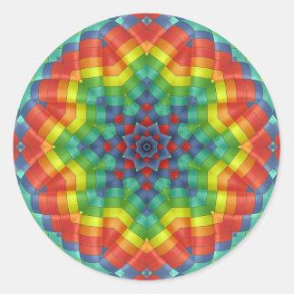Kaleidoscopic Hot Air Balloon 4 Classic Round Sticker