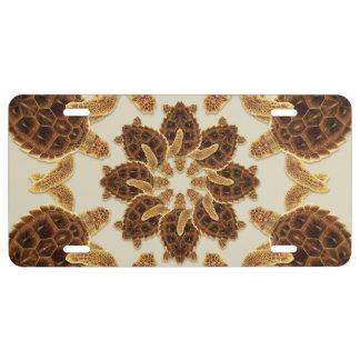 Kaleidoscopic Loggerhead Sea Turtle License Tag License Plate