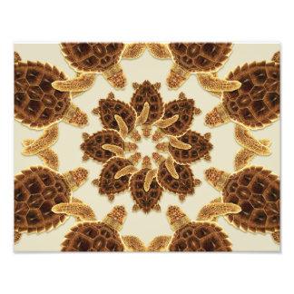 Kaleidoscopic Loggerhead Sea Turtle Print