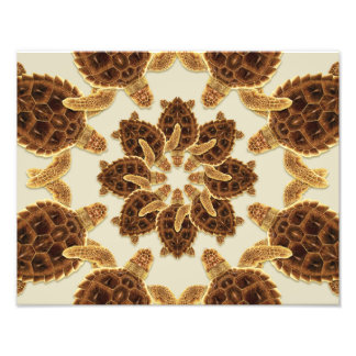 Kaleidoscopic Loggerhead Sea Turtle Print Photo Art