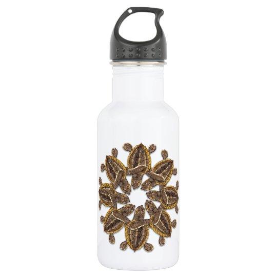 Kaleidoscopic Loggerhead Sea Turtle Water Bottle