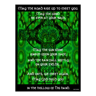 Kaleidoscopic Mandala - Irish Blessing 3 Poster