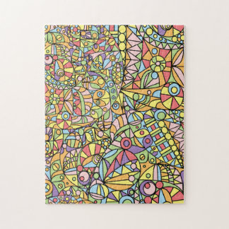 Kaleidoscopic Multicolored Abstract Pattern Jigsaw Puzzle