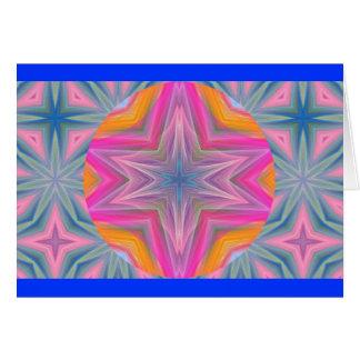 Kaleidoscopic Pastel Design.1 Card