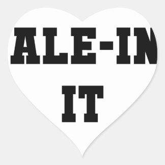 Kaleing It Heart Sticker
