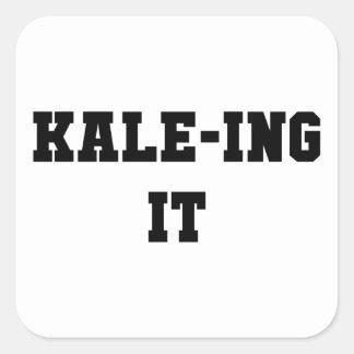 Kaleing It Square Sticker