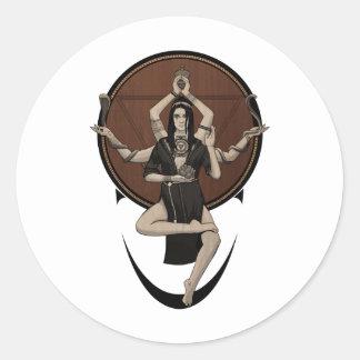 Kali Classic Round Sticker
