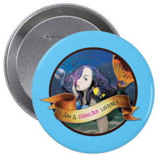 Kali the Mermaid Button