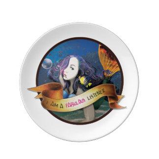 Kali the Mermaid Decorative Porcelain Plate