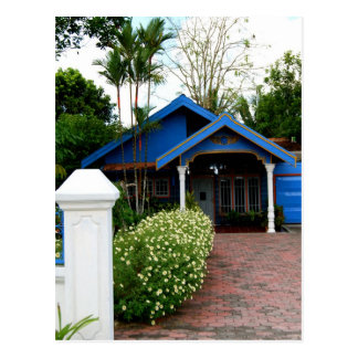 Kalimantan Indonesia Blue House Postcard