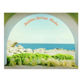 Kalithea Springs  Rhodes Postcard -1