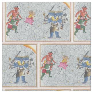 Kalkin defeating evil spirits fabric