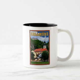 Kallmunz Church and Castle Ruins Two-Tone Coffee Mug