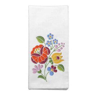 Kalocsa Embroidery - Hungarian Folk Art Cloth Napkin