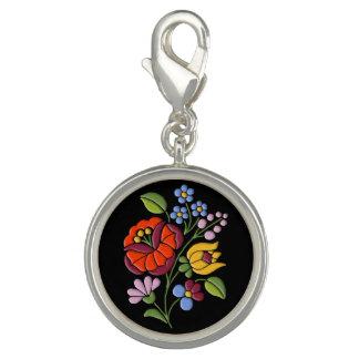 Kalocsa Embroidery - Hungarian Folk Art motif Charms