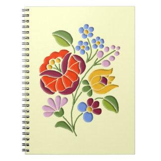 Kalocsa Embroidery - Hungarian Folk Art Notebook