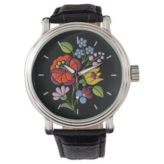 Kalocsa Embroidery - Hungarian Folk Art Watch