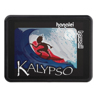 Kalypso Surfing Dude on a Wave Trailer Hitch Cover