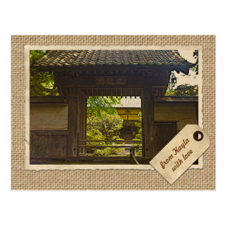 Kamakura Japan Kencho-ji Temple Vintage Paper Postcard
