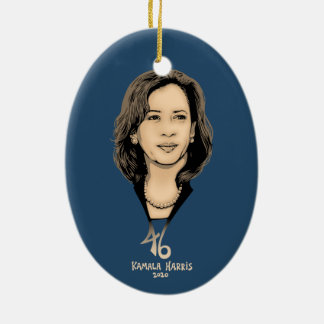 Kamala Harris 46 Ceramic Ornament