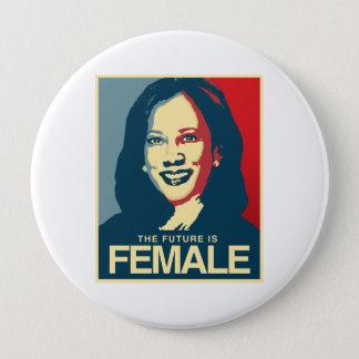 Kamala Harris Propaganda - Future is Female - 4 Inch Round Button