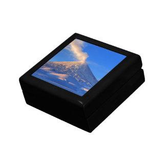 Kamchatka active Klyuchevskoy Volcano at sunrise Gift Box
