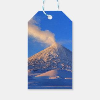 Kamchatka active Klyuchevskoy Volcano at sunrise Gift Tags