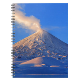 Kamchatka active Klyuchevskoy Volcano at sunrise Notebooks